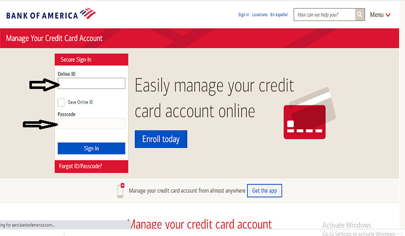 Bank Of America Credit Card Login