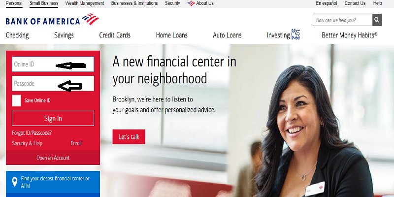 Bank Of America Login
