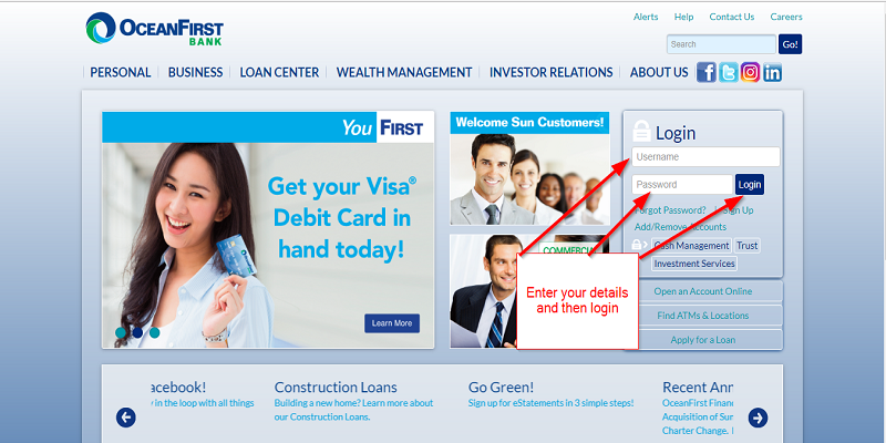 OceanFirst Bank Login
