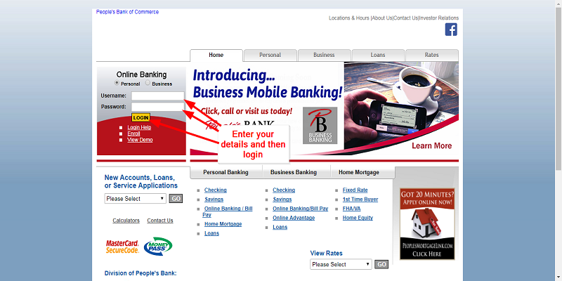 Peoples Bank Of Commerce Login