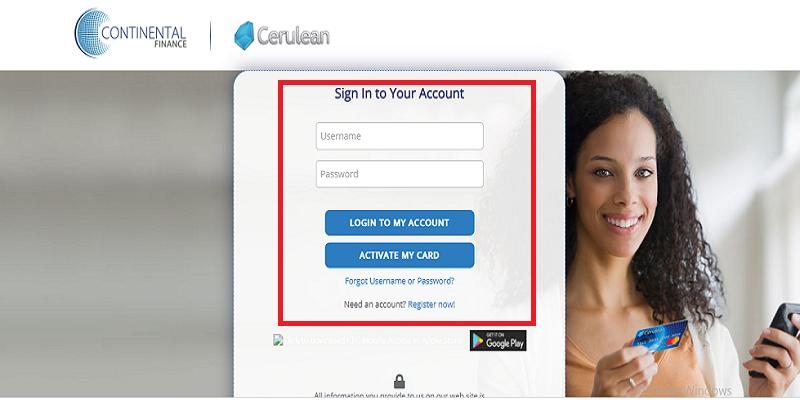 Cerulean Credit Card Login