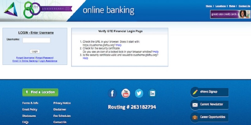 GTEFCU Login   How To Access Your GTE FCU Account