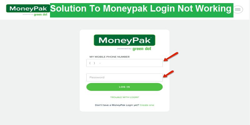 Solution To Moneypak Login Not Working