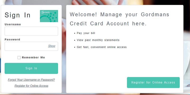 Gordmans Credit Card Login