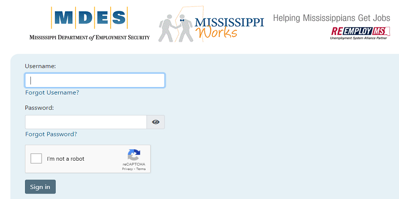 MDES Login: How To Access Your Claimant Account