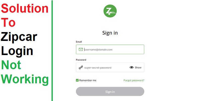 Solution To Zipcar Login Not Working